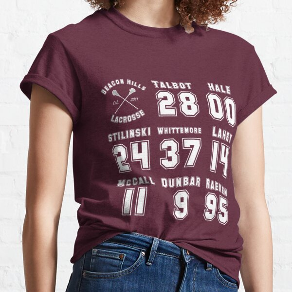 Teen Wolf Lacrosse Numbers T-Shirts | Redbubble