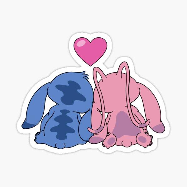 Stitch and Angel Pegatina
