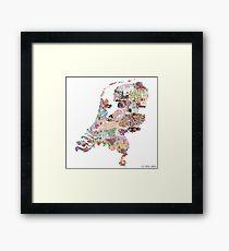 Niederlande Karte Gerahmtes Wandbild