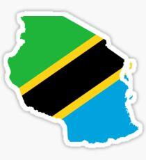 Flag Map of Tanzania  Sticker