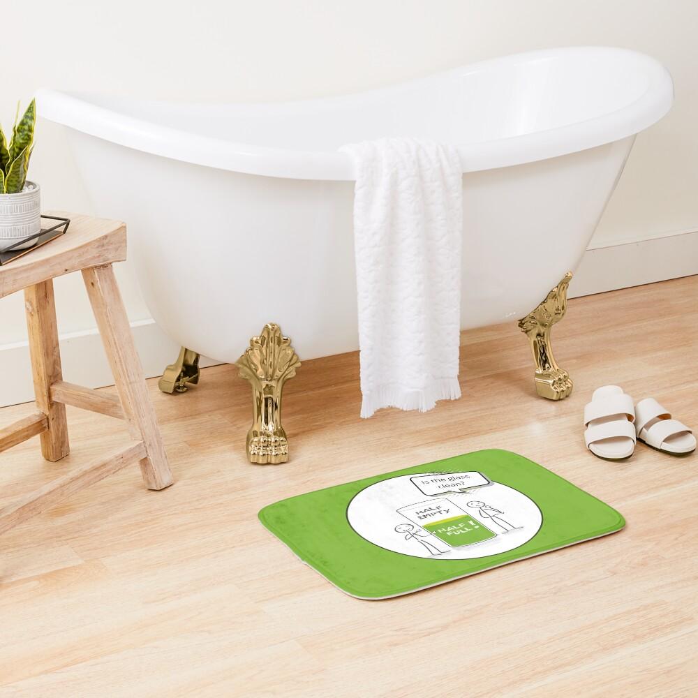 Glass Half Empty or Half Full Housekeeping Novelty Gifts Bath Mat