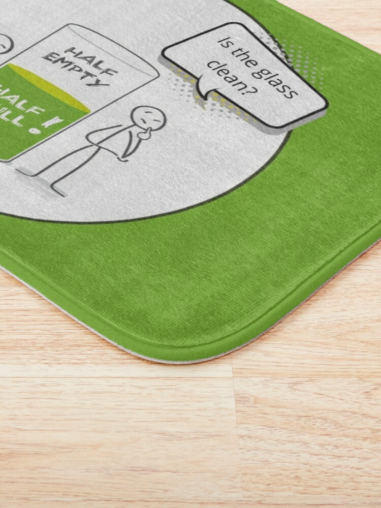 Alternate view of Glass Half Empty or Half Full Housekeeping Novelty Gifts Bath Mat