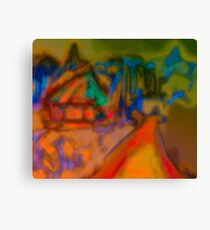 Colorful Abstract Art Laptop Skin Canvas Print