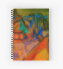 Colorful Abstract Art Spiral Notebook