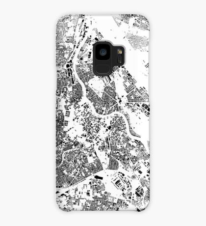 Vienna Map Schwarzplan Only Buildings Urban Plan Case/Skin for Samsung Galaxy