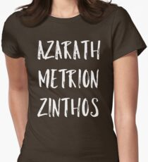 Azarath Metrion Zinthos Womens Fitted T-Shirt
