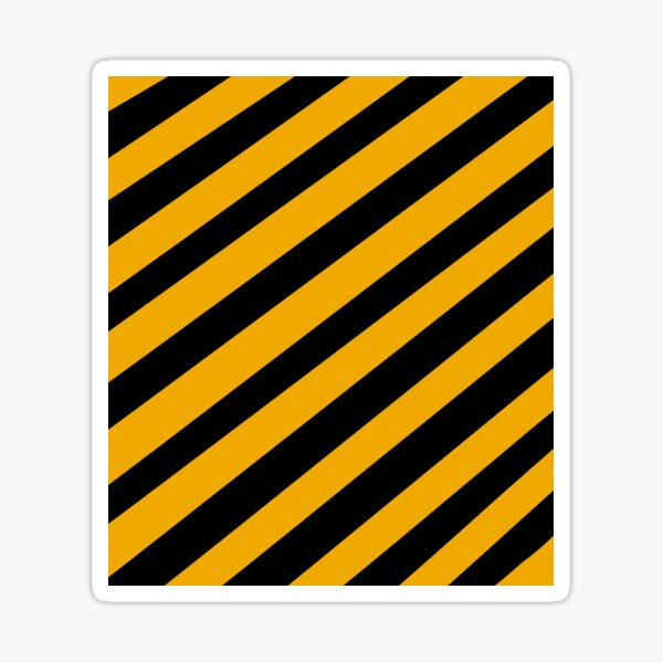 Black and yellow part  Sticker