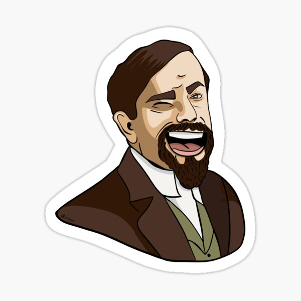 "Debussy ""Wink"" Classical Composer Sticker Sticker"