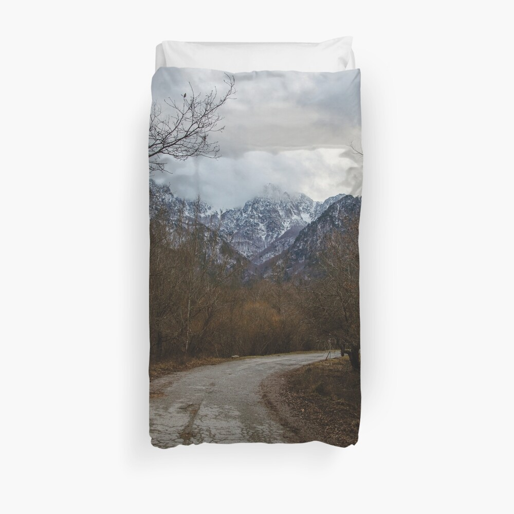 Road with mountain II Duvet Cover