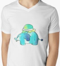 Turtle and Elephant Watercolor T-Shirt