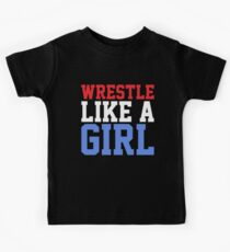 WRESTLE LIKE A GIRL Kids Tee