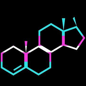 Trans Testosterone Molecule by EmmaMelgoza