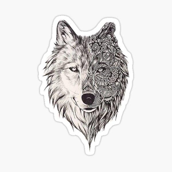 Mandala wolf vol.2 Pegatina