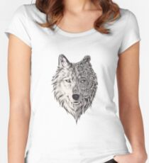 Mandala wolf vol.2 Women's Fitted Scoop T-Shirt