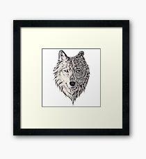 Mandala wolf vol.2 Framed Print
