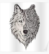 Mandala wolf vol.2 Poster