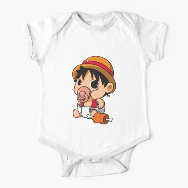 Monkey d luffy T-Shirts luffy one piece Poster cute luffy one piece kid baby  Sticker Short Sleeve Baby One-Piece