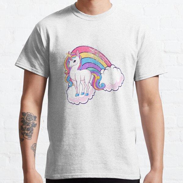 Rainbow Unicorn Animal légendaire T-shirt classique