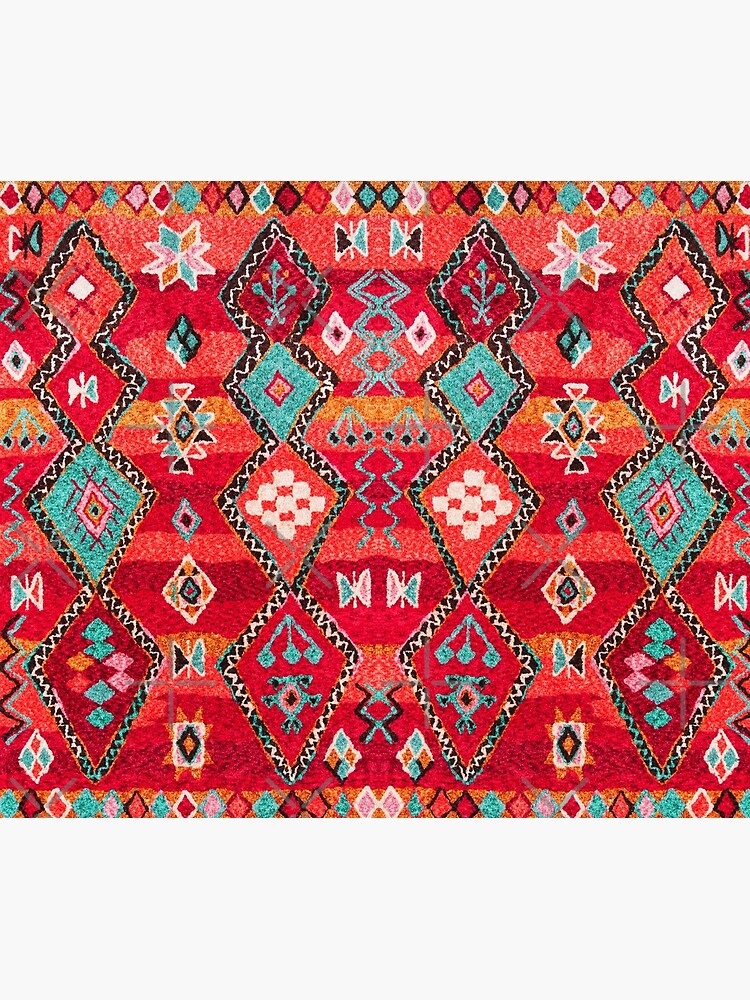Red Oriental Heritage Berber Colored Moroccan Style by Arteresting