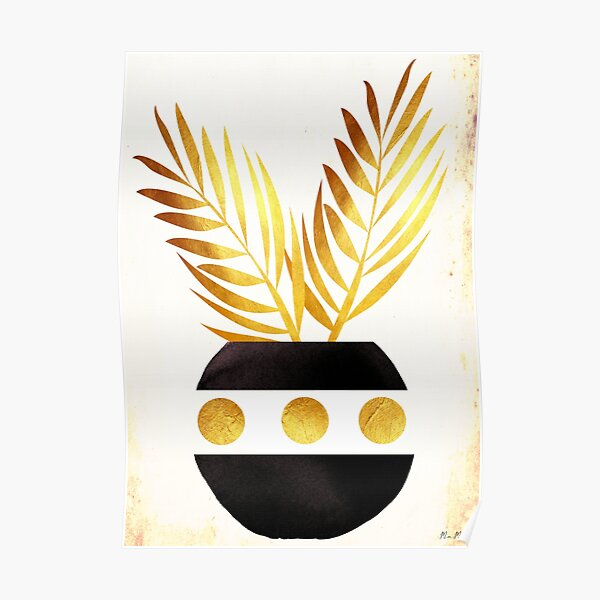 Minimalist leaf vase mama art Poster