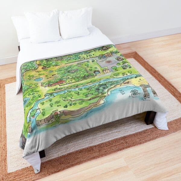 Stardew Valley Map Poster Comforter