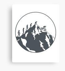 Evolution of Mountain biking | 2 Canvas Print