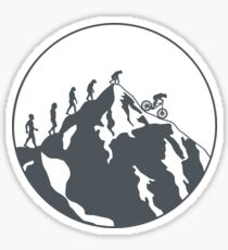 Evolution of Mountain biking | 2 Sticker