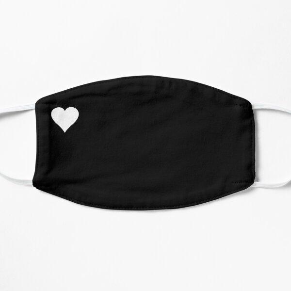 Mask heart / black Flat Mask