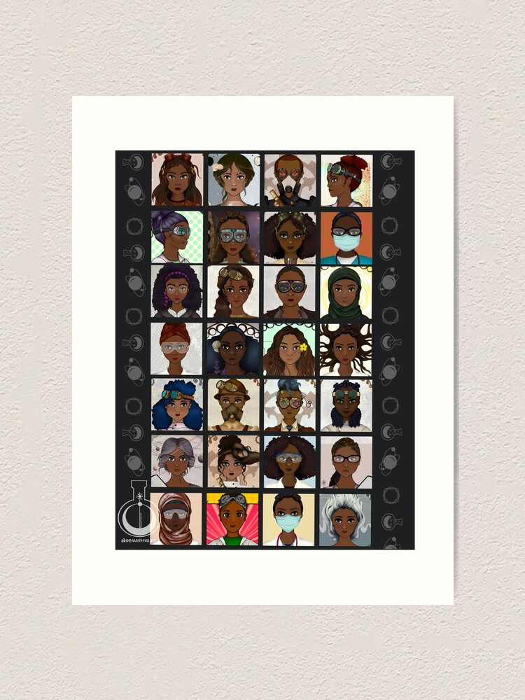 Alternate view of Black Excellence (Black Women in STEM) Art Print