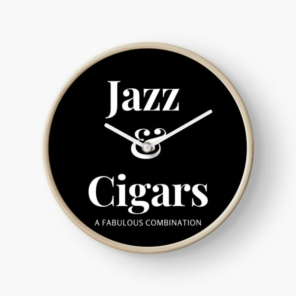 Jazz and Cigars Clock