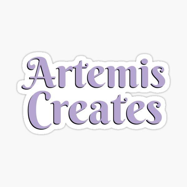 Artemis Creates Logo (text only, CMYK safe) Sticker