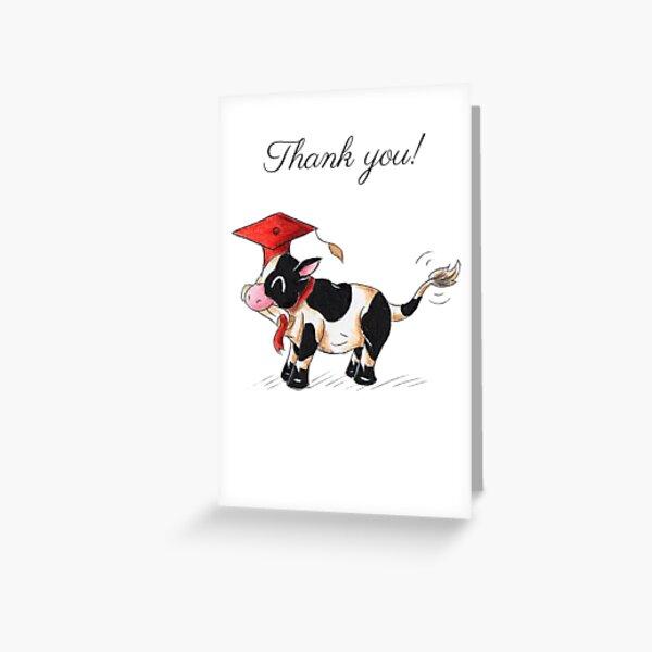 Holstein Grad (Thank You Card) Greeting Card