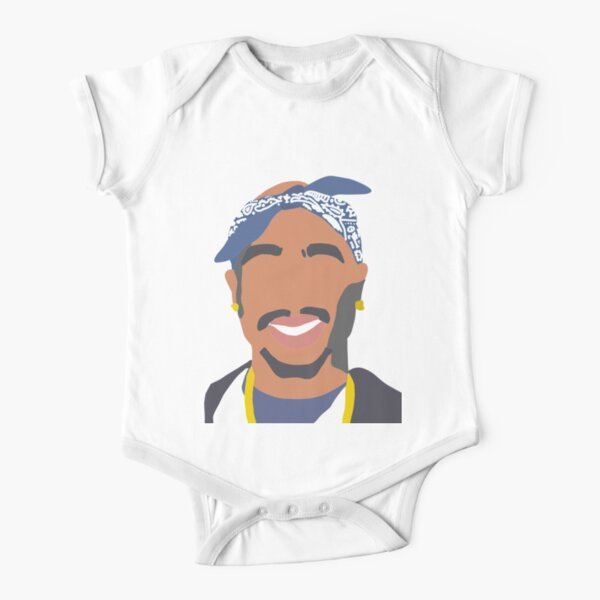 Tupac  Short Sleeve Baby One-Piece