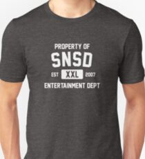 Property of SNSD (White Ver) Unisex T-Shirt