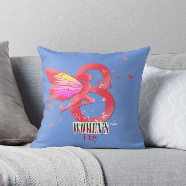 international women's day Throw Pillow