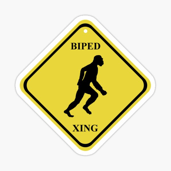 BIPED XING Street Sign Sticker