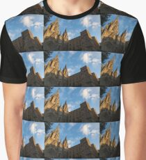 Warm Sun Glow On The Cathedral Of Barcelona Graphic T-Shirt