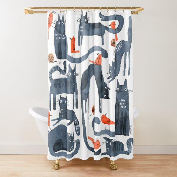 SUNDAY CATS Shower Curtain