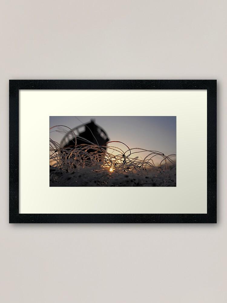Alternate view of Fish nets at dawn... Framed Art Print