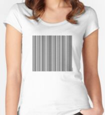 Name, Rank, Serial Number | Barcode Women's Fitted Scoop T-Shirt