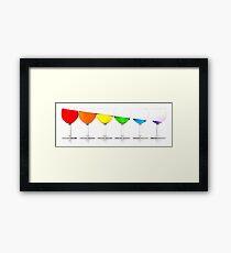 Downhill liquids - Ink Framed Print