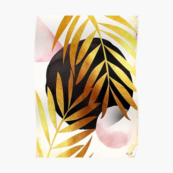 Abstract palm tree mama art Poster