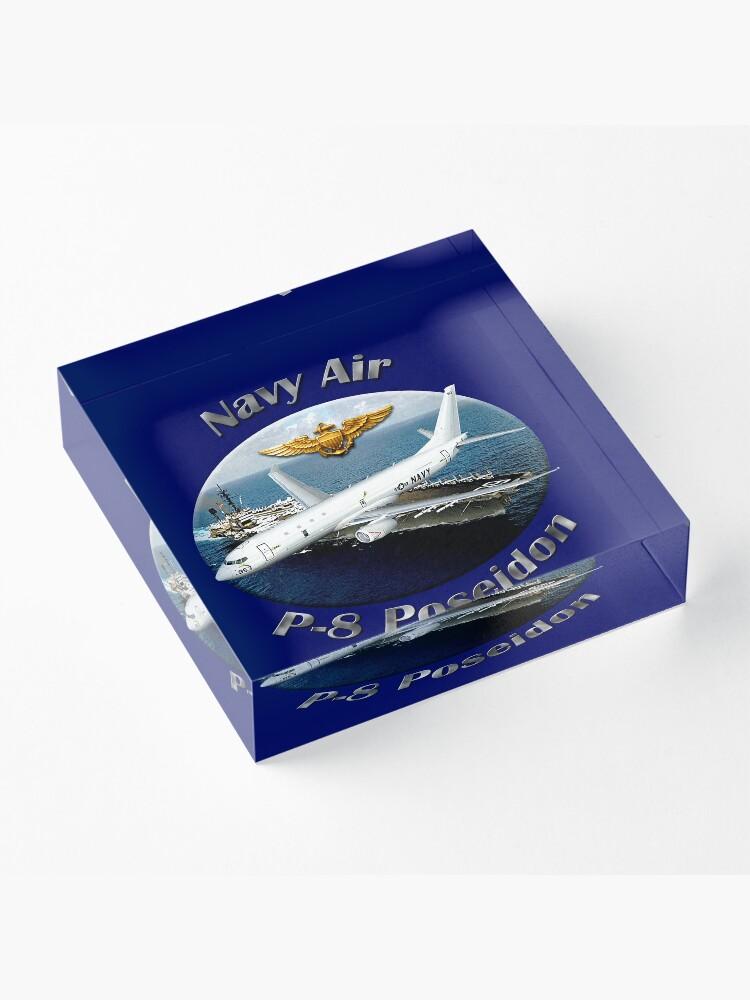 Alternate view of P-8 Poseidon Navy Air Acrylic Block