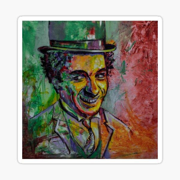 Charly Chaplin Pegatina