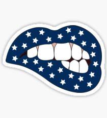 Blue & White Star Lip Bite Sticker