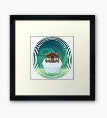The Bison Lodge Framed Print