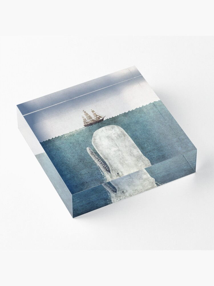 Alternate view of The White Whale  Acrylic Block