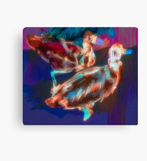 Abstract Duck Art Spiral Notebook Canvas Print