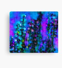 Abstract Art Floral Duvet Cover Canvas Print