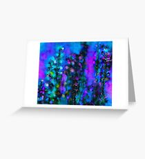 Abstract Art Floral Duvet Cover Greeting Card